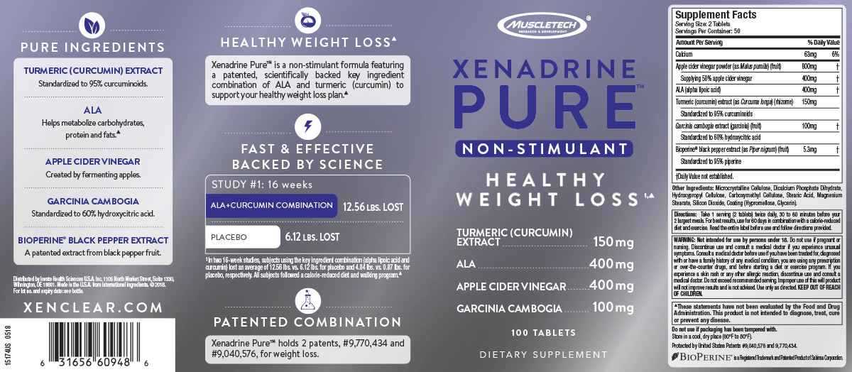 Xenadrine Pure label